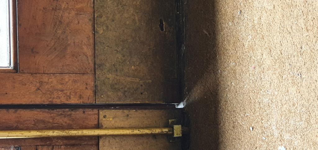 Casino doors open and replace down facing mortice lock