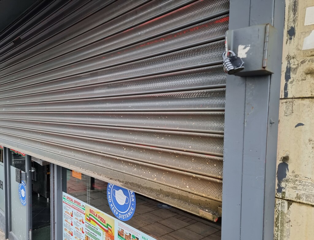 Yes, another shutter. Up up and open